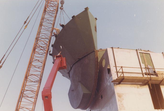 Installation of the support structure